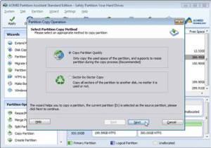 copy partition