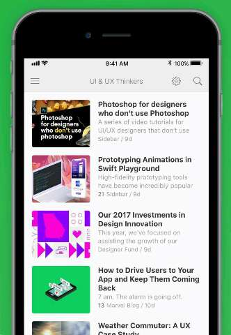 Feedly news app