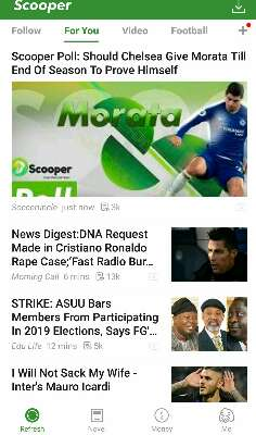 Scooper news app