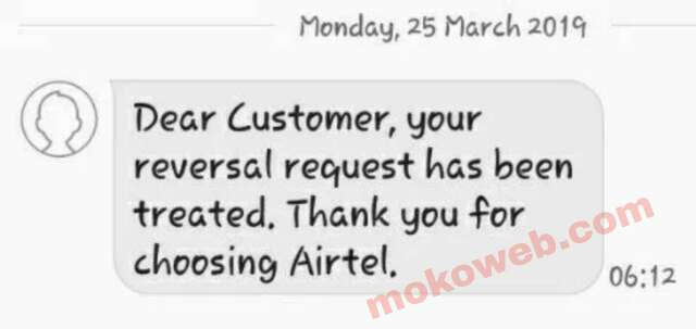 Airtel Reversal data cheat