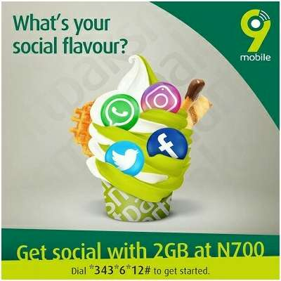 9Mobile 2gb for N700 SocialPak