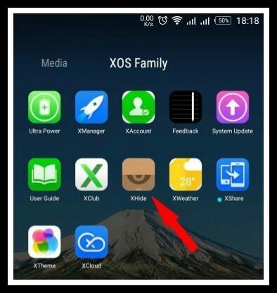 Bring back xhide app