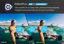 deshake video with videoproc