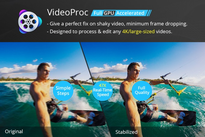 deshake video with videoproc