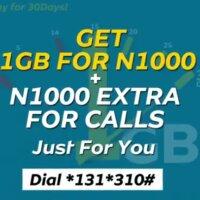 MTN n1000 for 1gb + n1000 plan