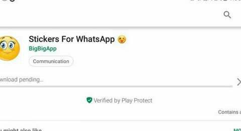 Play Store download pending error