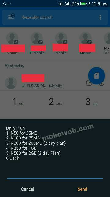Mtn 4gb for n500