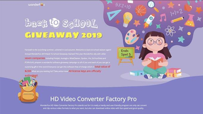2019 WonderFox Back To School Giveaway Campaign