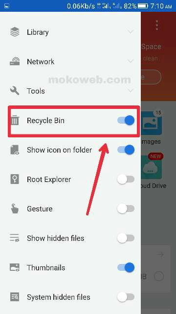 Android phone recycle bin