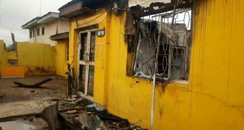 MTN office in Ibadan burnt
