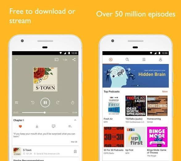 Castbox best podcast app for Android