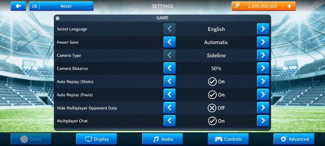 Change language in dream league soccer