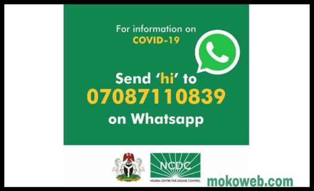 Ncdc Whatsapp number