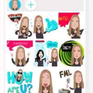 Mirror emoji keyboard app