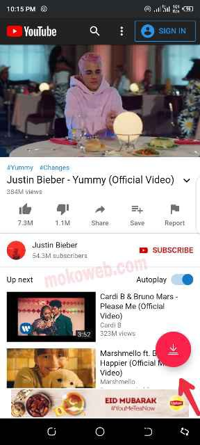 Tubemate youtube video