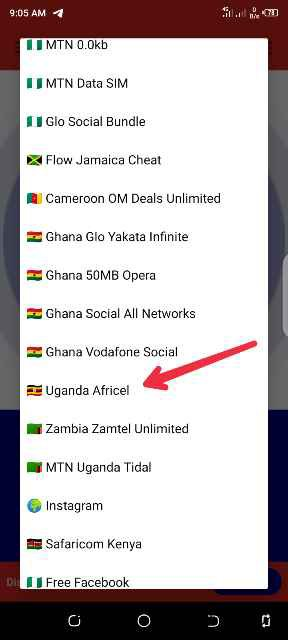 Uganda Africel cheat