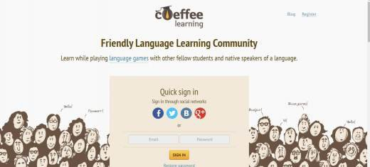 Coefee site to chat with foreigners