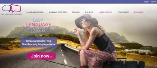 Easy language exchange site