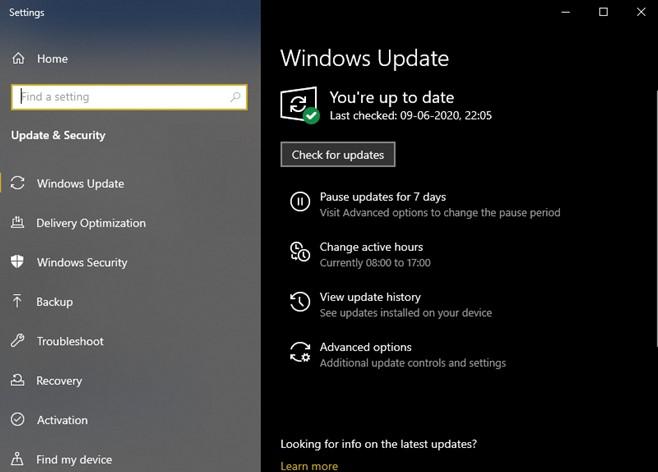 run windows update