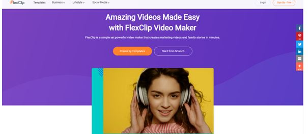 Flexclip video editor