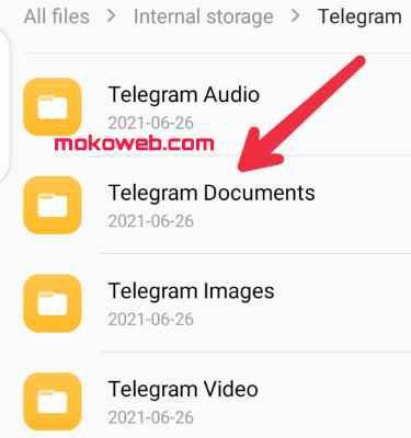 Telegram document folder