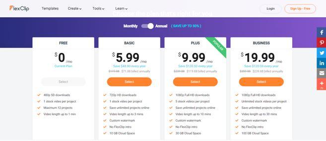 Flexclip prices