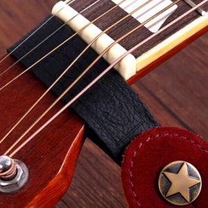 Acoustic guitar strap holder leather black