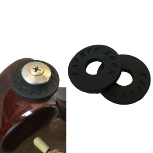 2pcs (bass)guitar strap locks rubber black