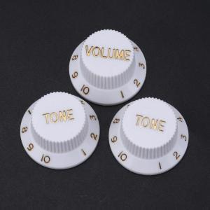 Stratocaster volume tone knobs white