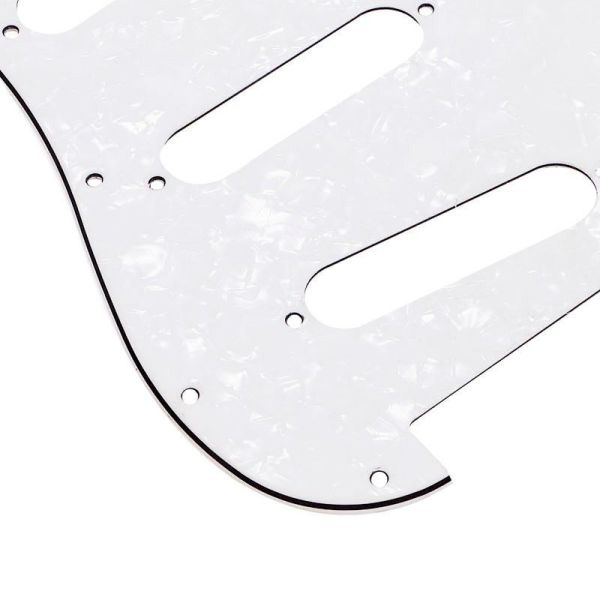 3ply stratocaster white pearloid SSS standard pickguard