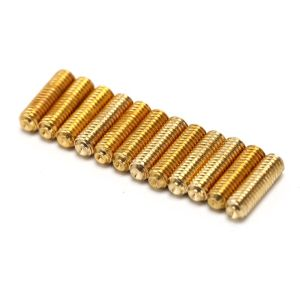 (12PCS) 1/2″ Bridge saddle height adjustment screws gold