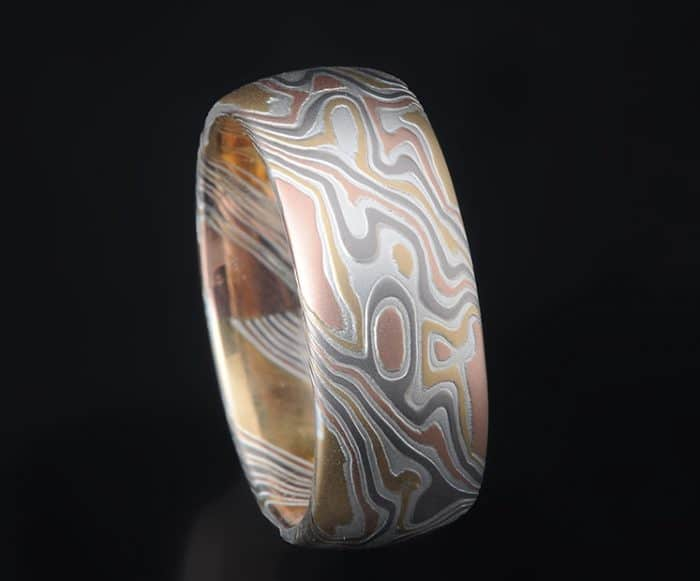 unique gold mokume ring