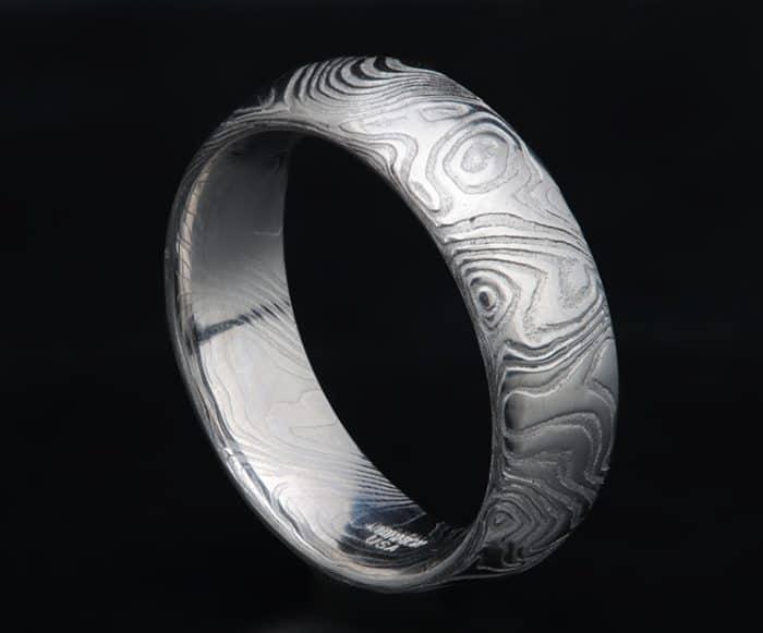 damascus steel wedding ring