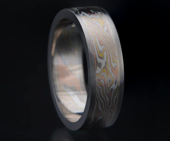 custom multi-gold wedding ring
