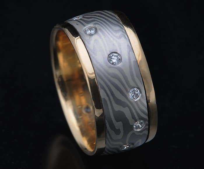 platinum diamond gold ring