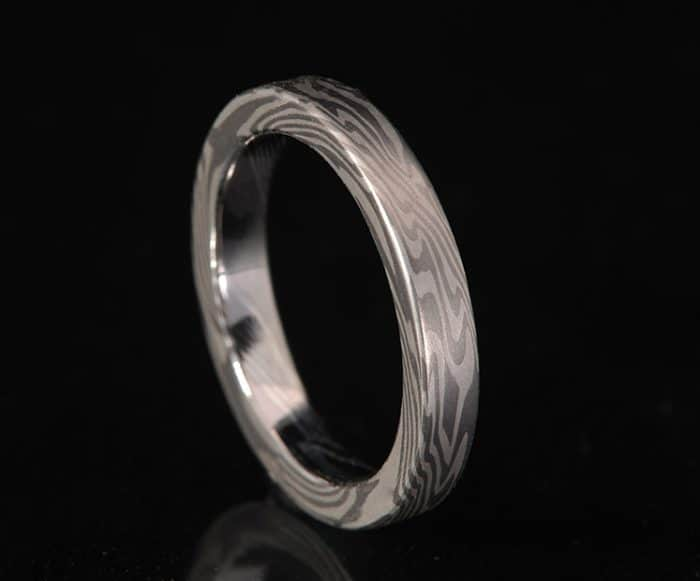 womans unique palladium wedding ring