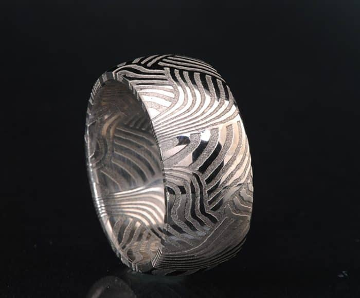 Damascus wedding band