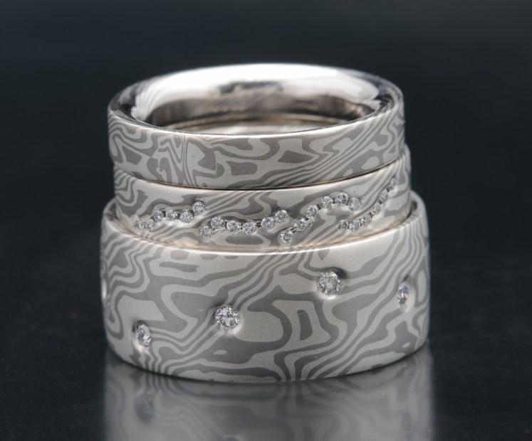 Palladium Wedding Ring Set