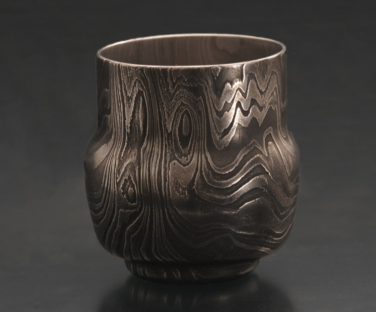 Damascus whiskey cup