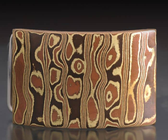 mokume belt buckle