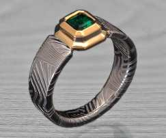 cool Damascus steel engagement ring