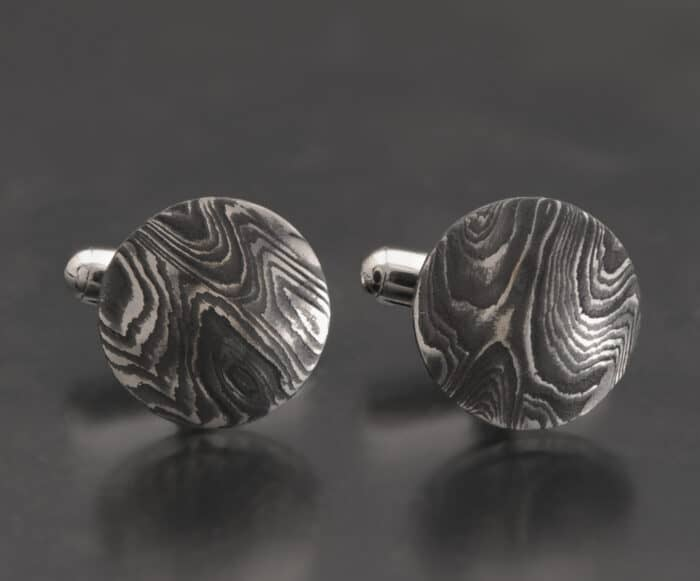 Damascus Stainless Steel Cufflinks