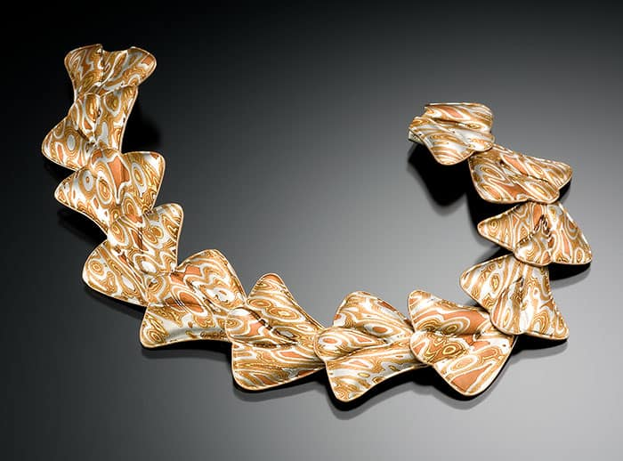 custom mokume link bracelet