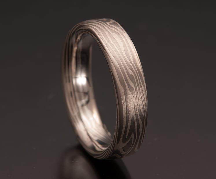 mokume loose woodgrain ring