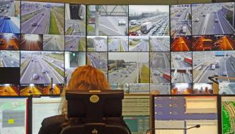 Zicht op de snelweg - de verkeerscentrale