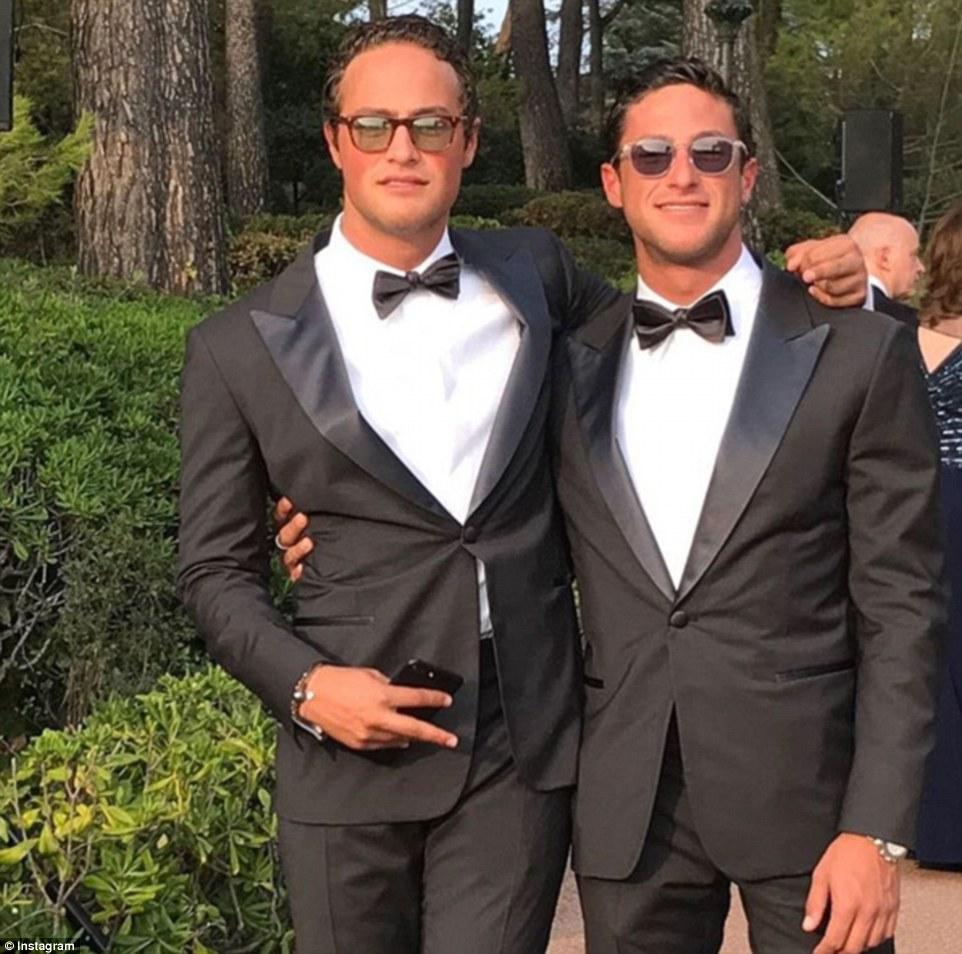 Bros: de Aby Rosen filhos Charlie e Gabriel no casamento