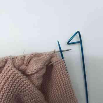 pasar puntos chaqueta de tricot