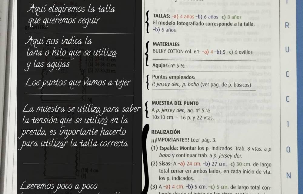 Aprender a leer los patrones de las revistas, primera parte.