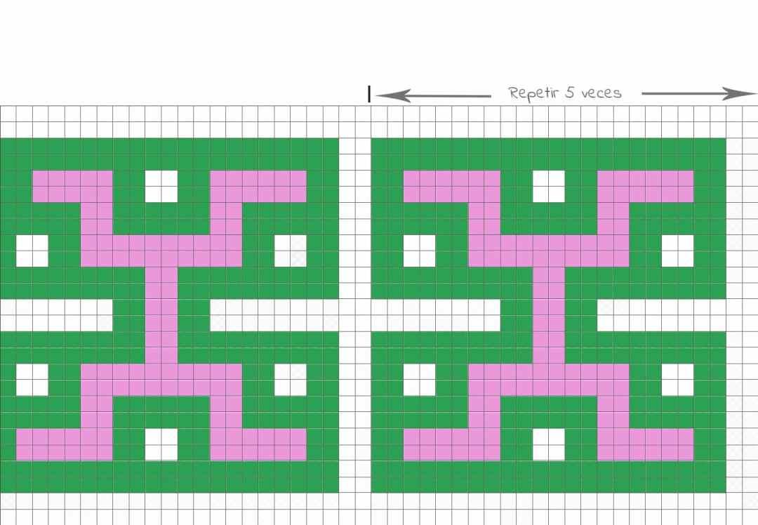 diagrama crochet bolsos azteca