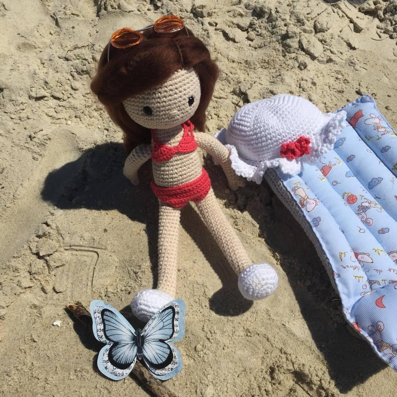 Amigurumi crochet muñeca Lau - Molan Mis Calcetas